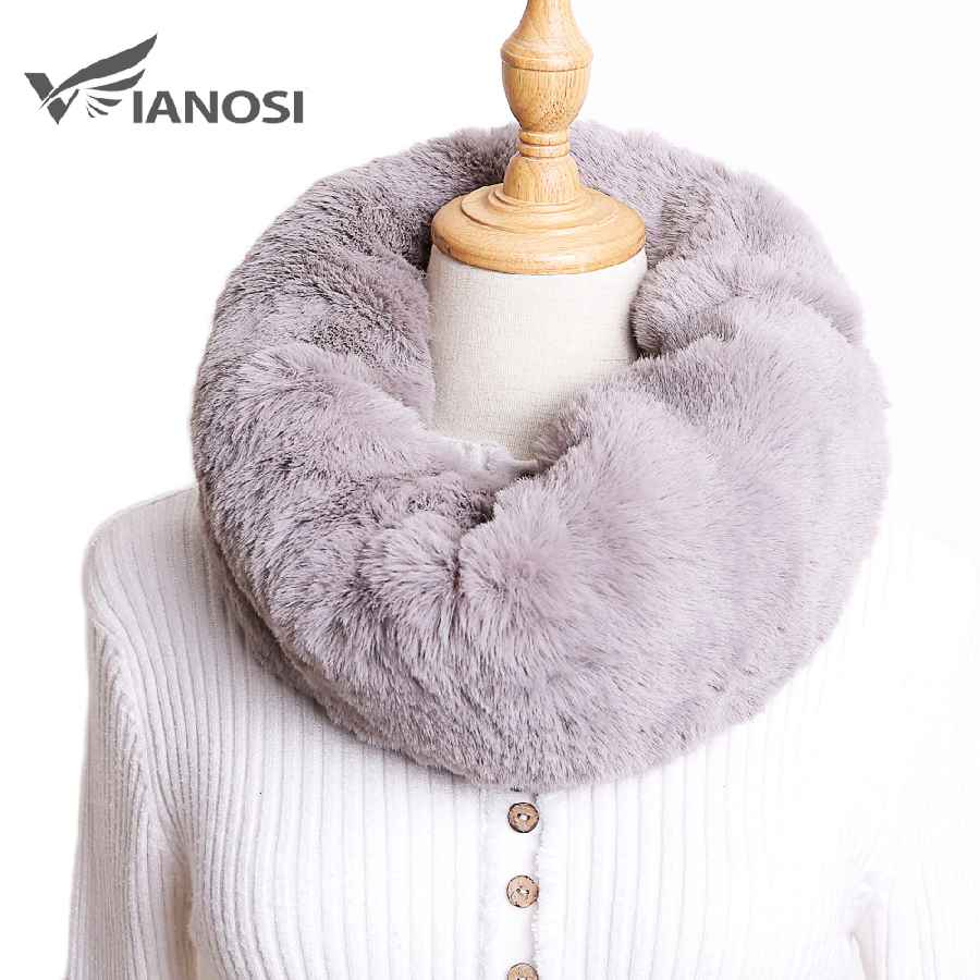 2019 New Winter Faux Fur Scarf Fashion Soft Women's Rings