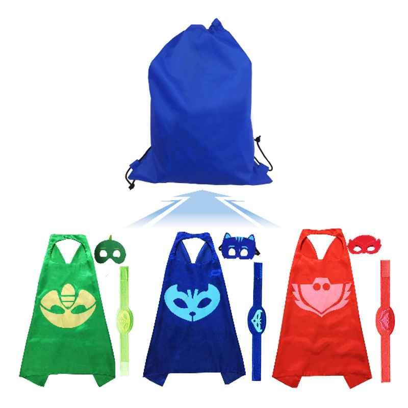 3set Pj Masks Mask Cloak Bracelet Catboy Owlette Gekko Birthday