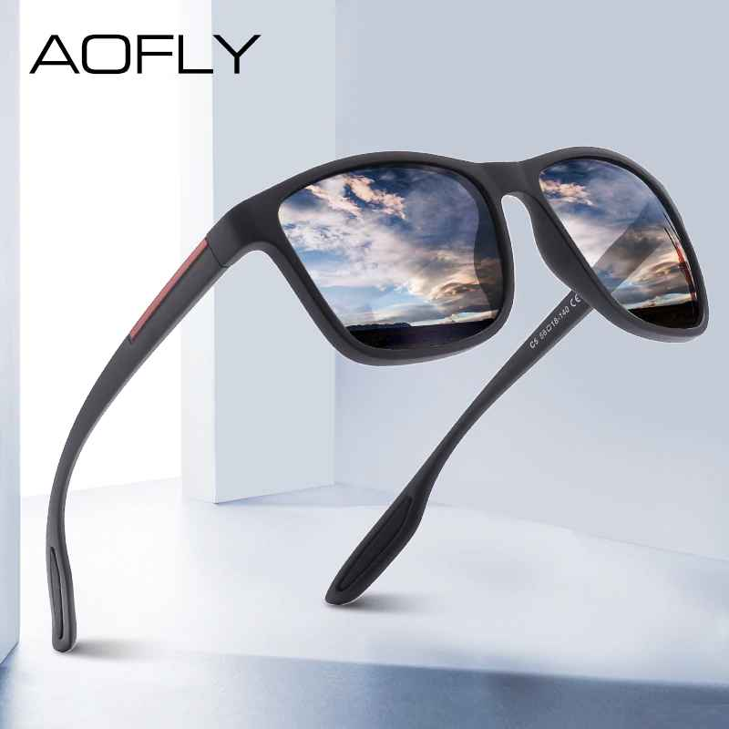 Design Ultralight Tr90 Polarized Sunglasses Men Fashion Male Sun Glasses