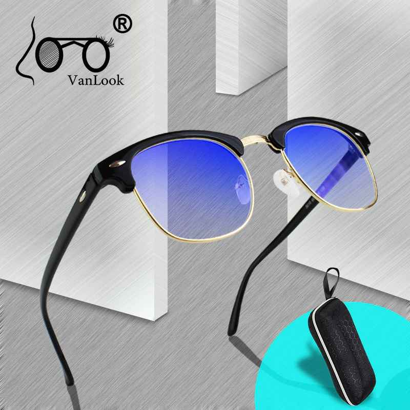 Transparent Computer Glasses Blue Light Blocking Women Men Spectacle Frame