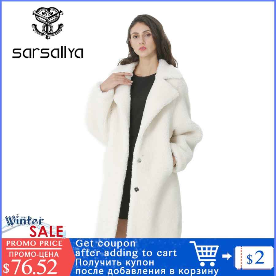 Winter Women Wool Coat Cashmere Female Long Coat Blends Woolen