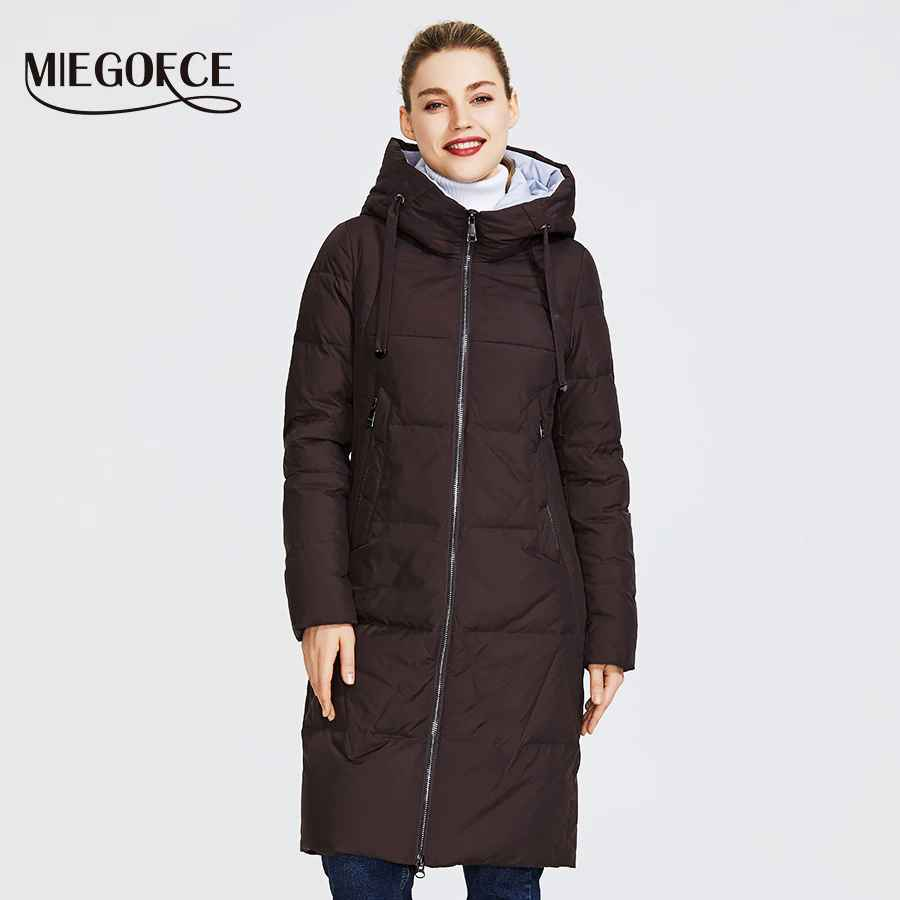 Miegofce 2019 New Winter Women s Collection Of Jacket Medium Length