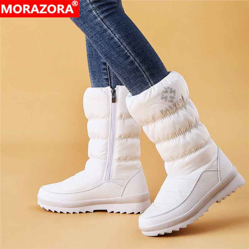 Morazora Big Size 36-41 New Warm Snow Boots Women Zipper