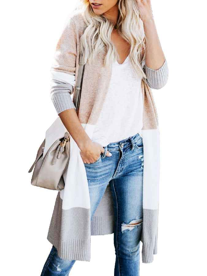 Sweaters unique nature womens open front long sweater cardigans boho