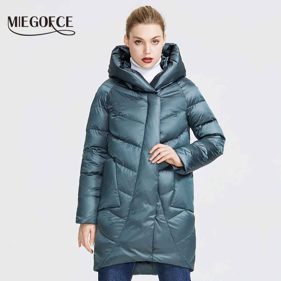 Miegofce 2019 Winter Jacket Women s Collection Warm Jacket With Unusual