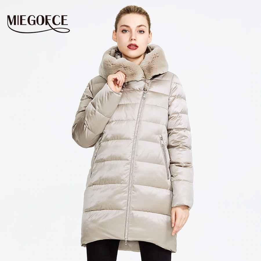 Miegofce 2019 Winter Women s Collection Women s Warm Jacket Coat Winter