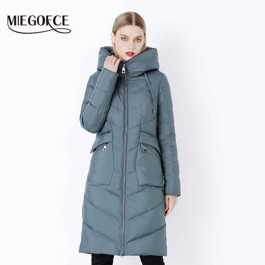 Miegofce 2019 New Long Winter Women s Jacket Coat Thickening Windproof