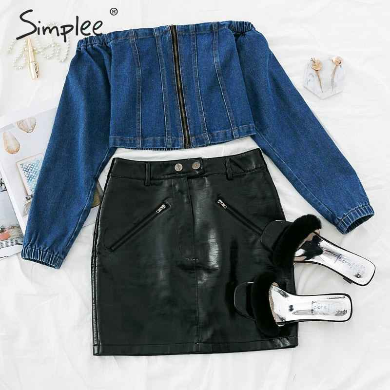Blouses Shirts Simplee Off Shoulder Women Blouse Vintage Long Sleeve
