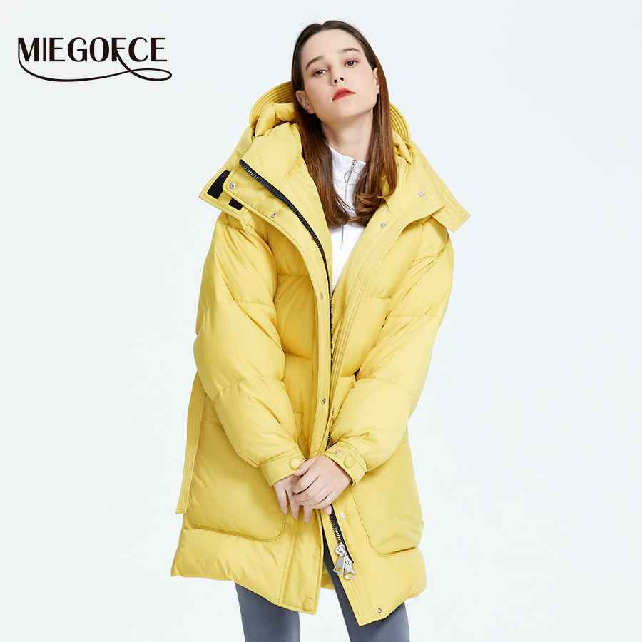 Miegofce 2019 New Design Winter Coat Womens Parka Insulated Loose