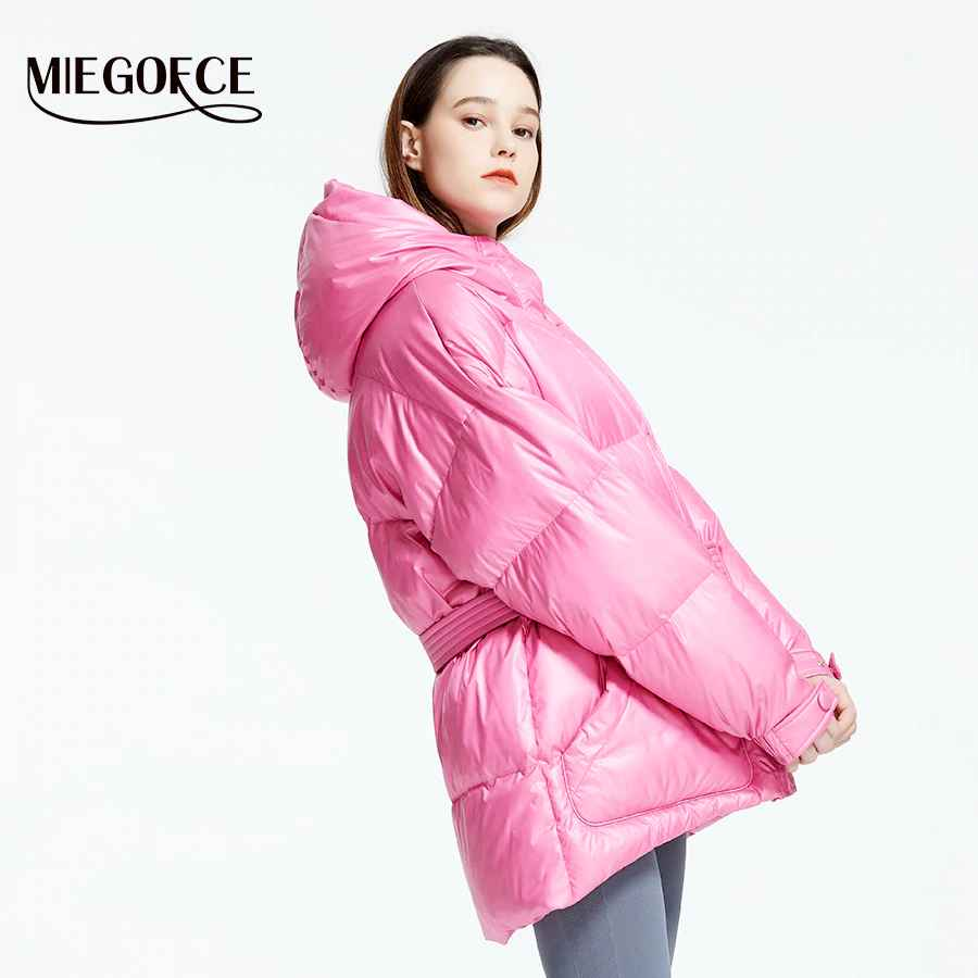 Miegofce 2019 New Winter Women s Jacket High Quality Bright Colors