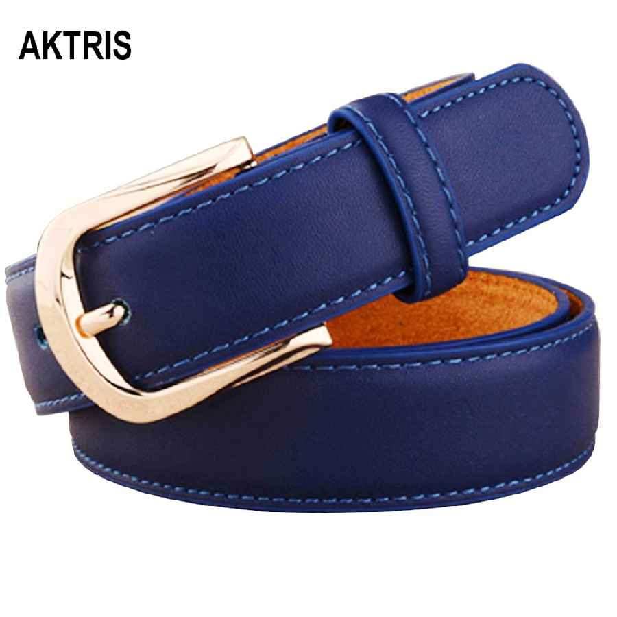 Aktris Women Belts Luxury Brand Blue Genuine Leather Fashion Women s