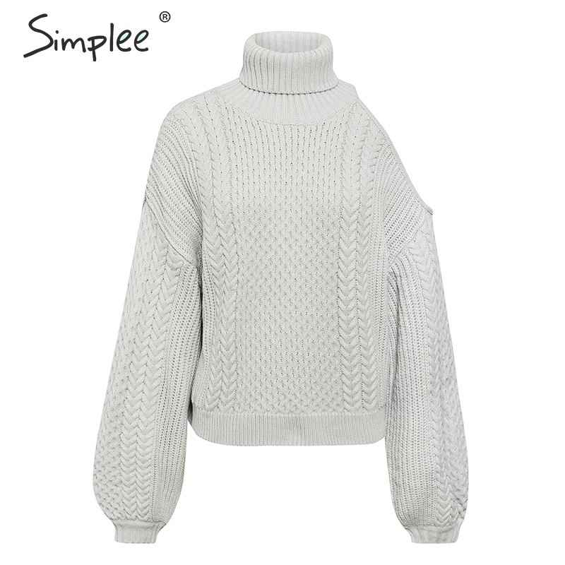 Pullover Jumpers Simplee Streetwear Knitted Women Sweater 2019 Solid Red
