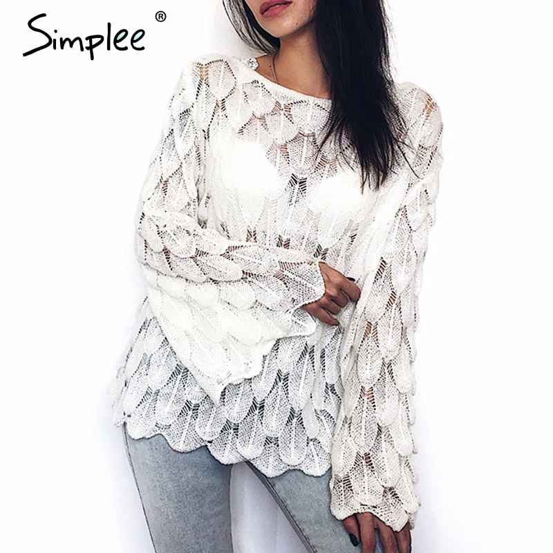 Pullover Jumpers Simplee Off Shoulder Female Pullover Sweater Long Toned