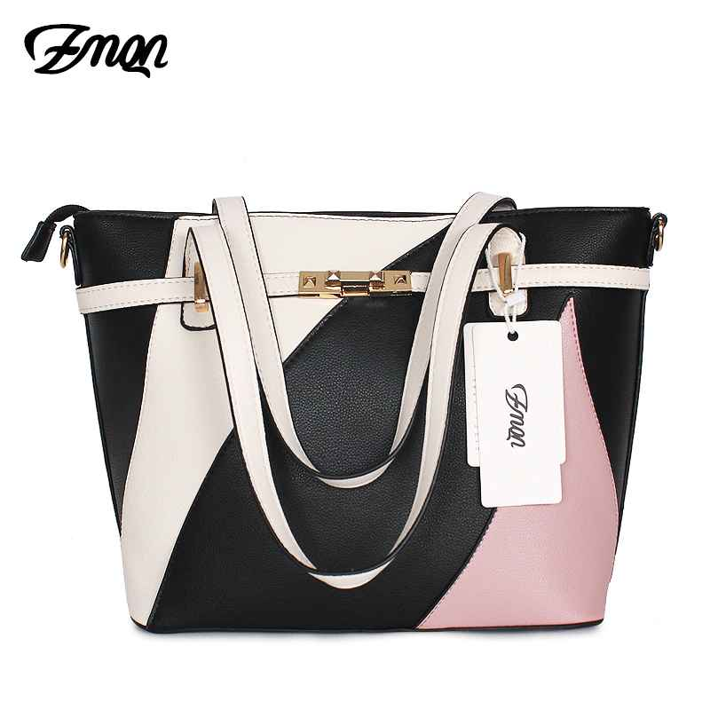 Bag Women Patchwork Handbag Women Famous Brands Shoulder Leather Bag