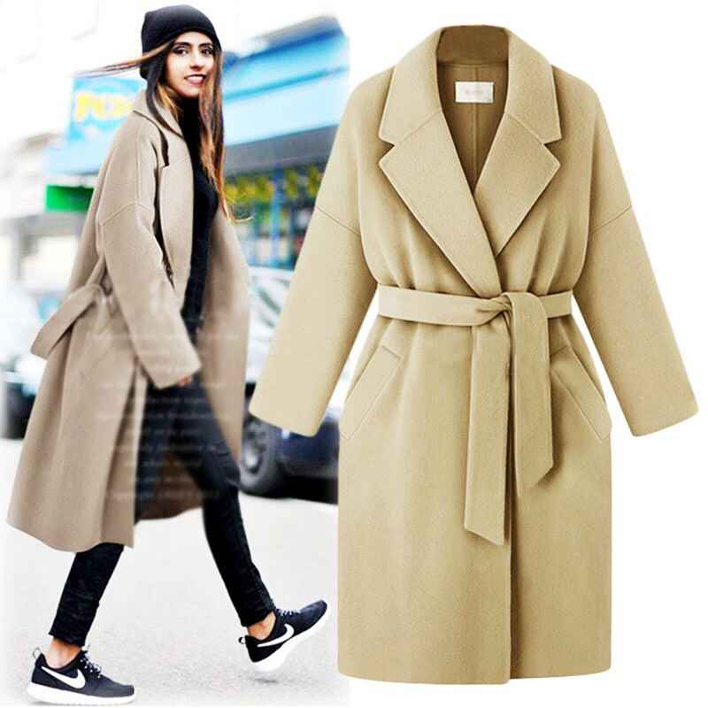New Fashion 2019 Spring Winter Cassic Simple Cotton Maxi Robe
