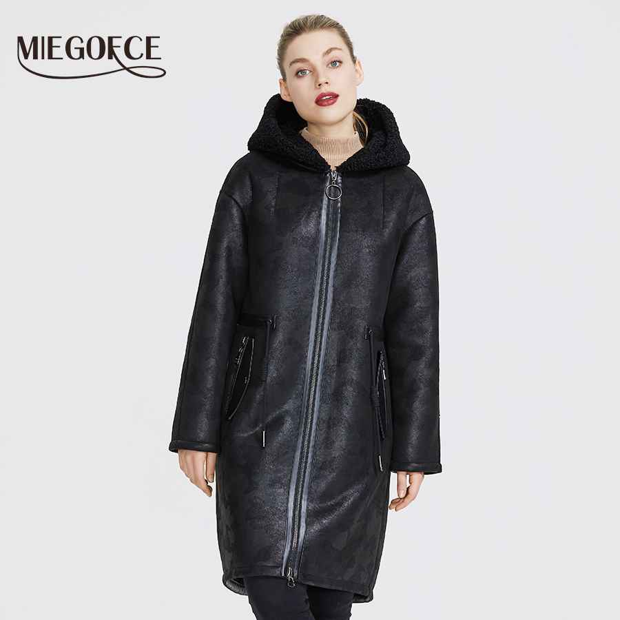 Miegofce 2019 New Winter Women s Collection Of Fake Fur Jackets