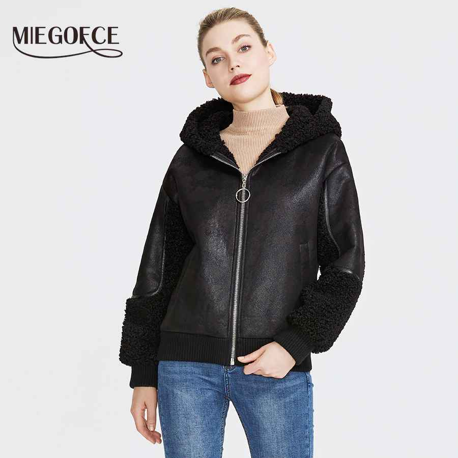 Miegofce 2019 New Winter Women s Collection Faux Fur Jacket Women