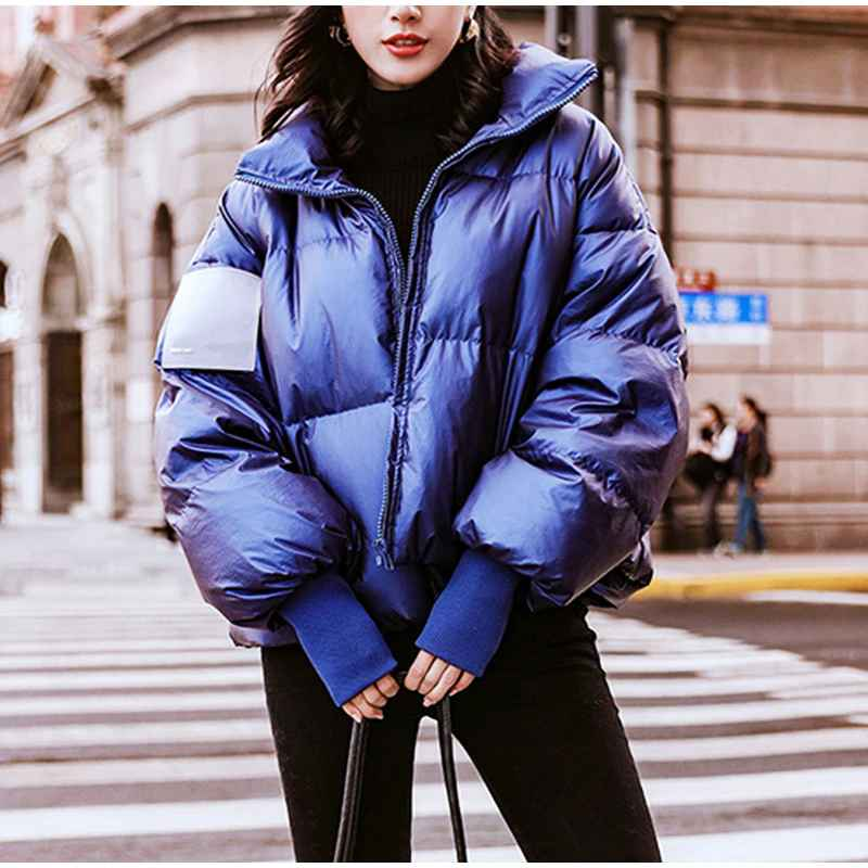 Parkas womens bright waterproof jacket parka winter 2019 windproof warm