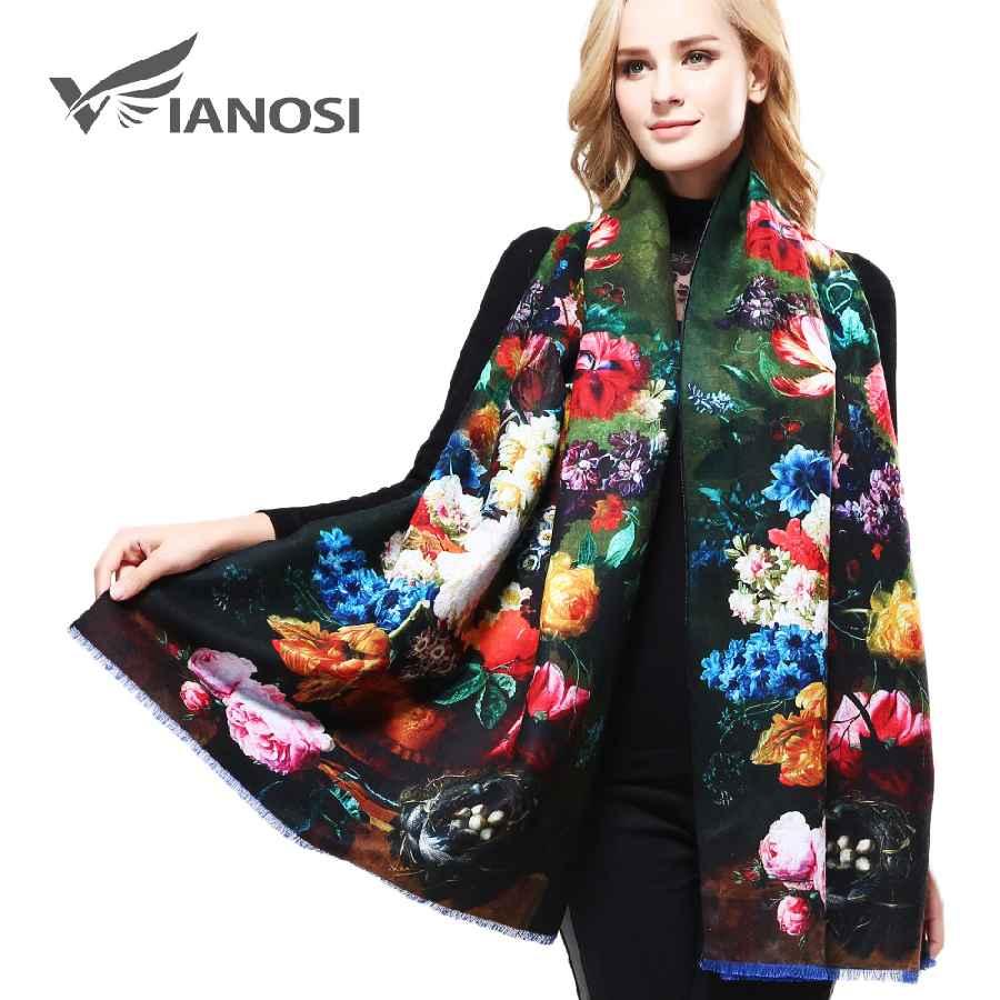 Luxury Cashmere Winter Scarf Women Shawls Thicken Print Warm Scarves
