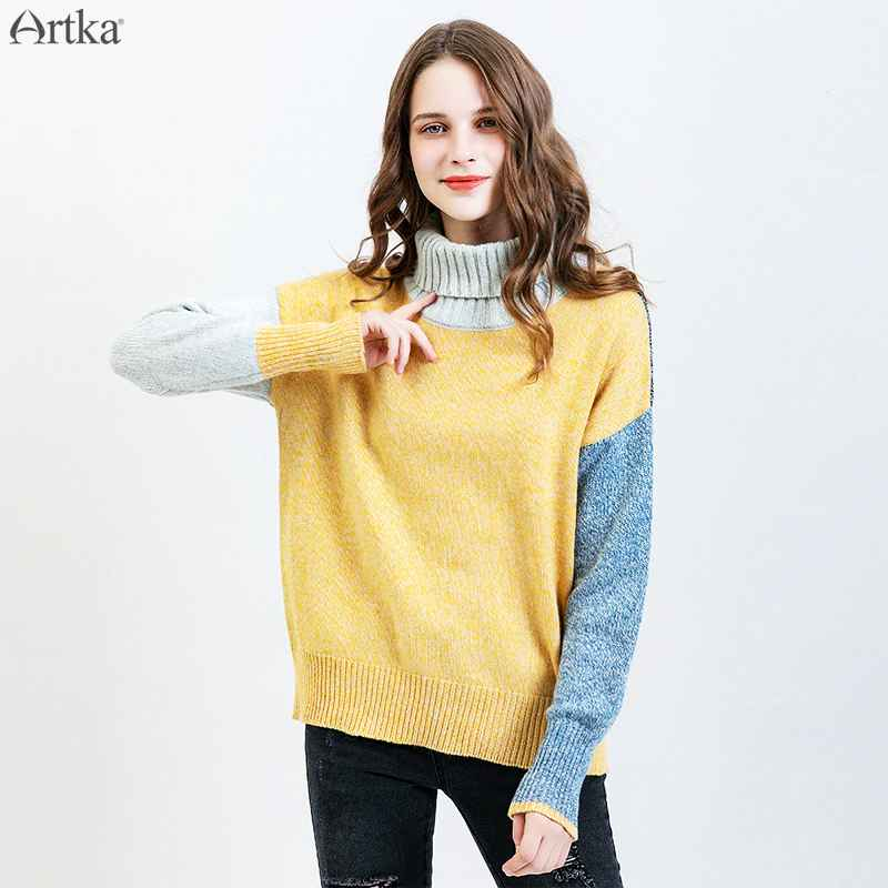 Artka 2019 Autumn Winter New Women Wool Sweater Fashion Color