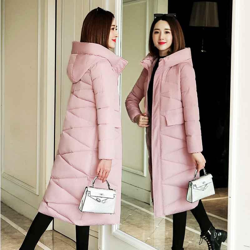 Coats plus size 3xl women parkas winter hooded warm coat