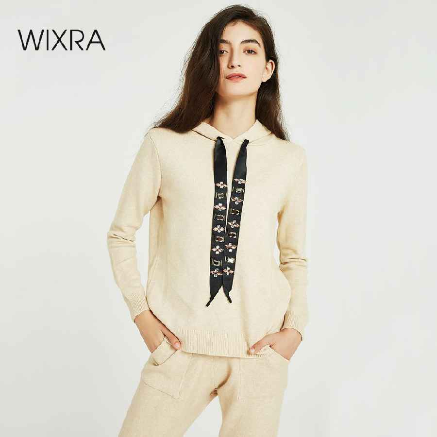 Womens Sets Wixra Women Sweater Suits And Set Casual Hooded