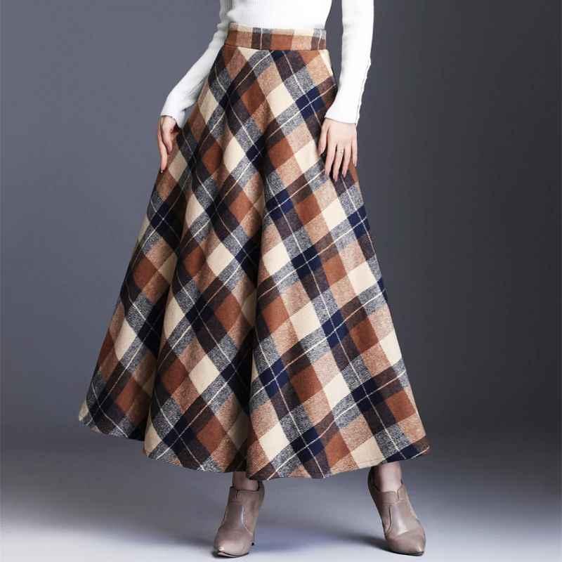 Skirts hayblst brand skirt womens 2019autumn winter plus size3xl elegant