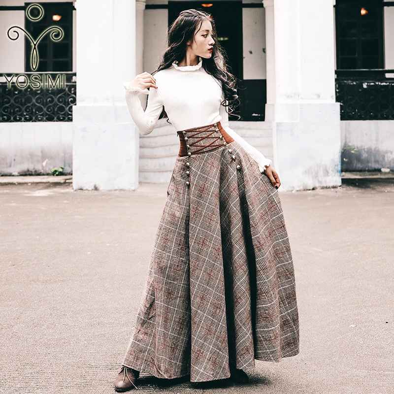 Womens Sets Yosimi 2019 Autumn Winter Sweater Skirt Set Full