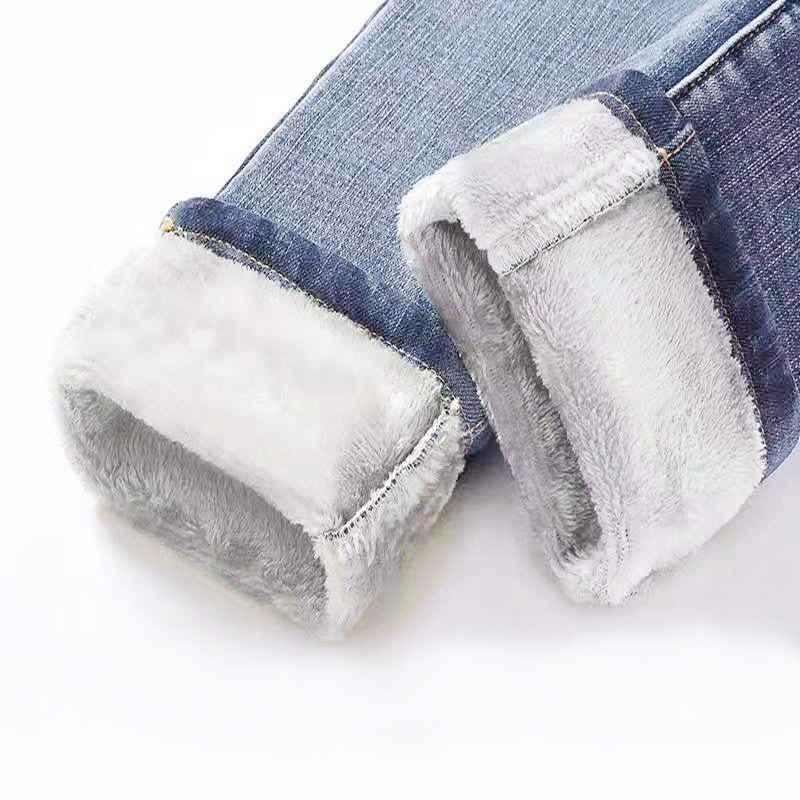 Jeans winter jeans womens korean high waist plus velvet skinny