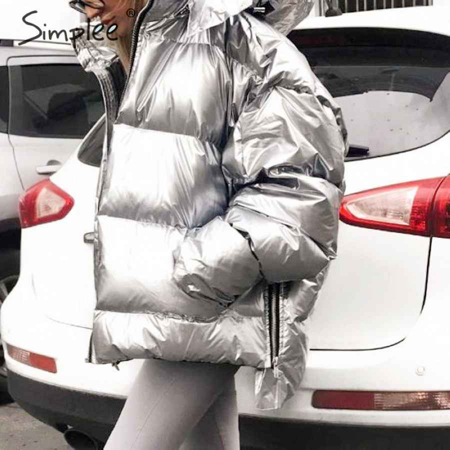 Fashion Plus Size Women Winter Parka Hooded Zipper Pockets Female