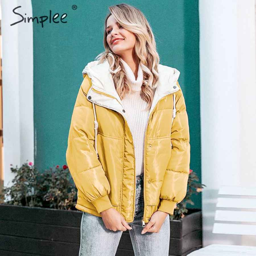 Fashion Autumn Winter Women Parka Thick Plus Size Hooded Female