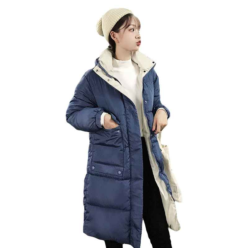 Coats new causal autumn winter women jackets big pocket long