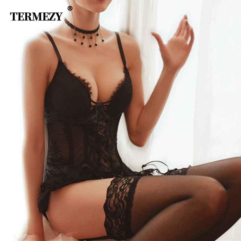 Termezy Eyelash Lace Corset And Bustier Women s Elastic Gothic Clothing