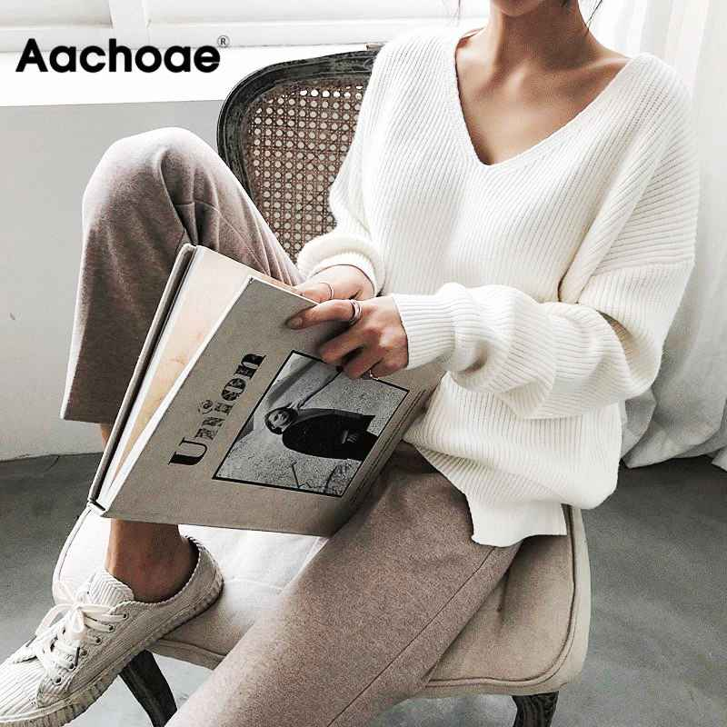 Womens Sets Womens Sweaters 2019 Autumn Winter Casual V Neck