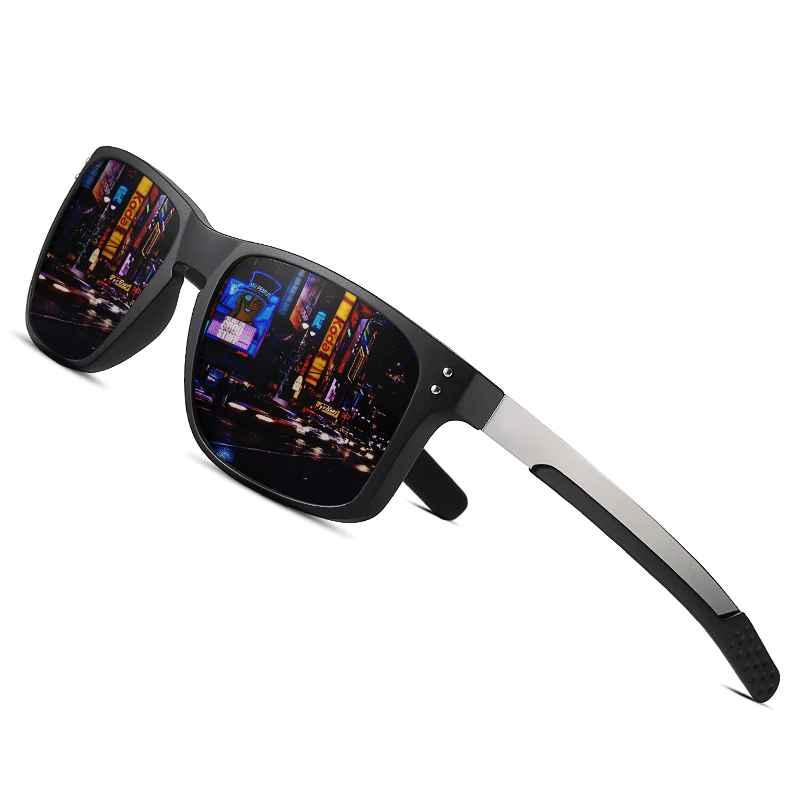 Fashion Male Sunglasses Tr90 Flexible Frame Fishing Square Sunglasses Men