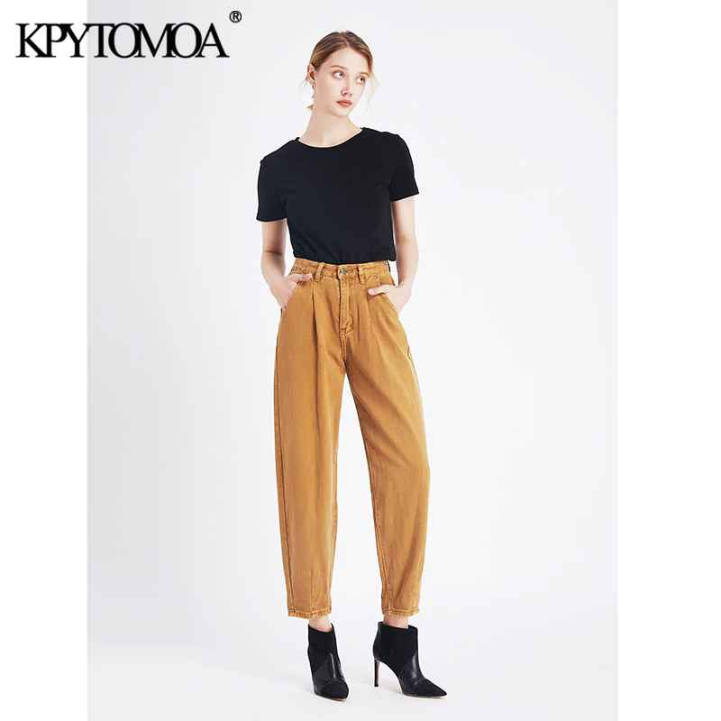 Jeans vintage stylish high waist harem pants washed effect jeans