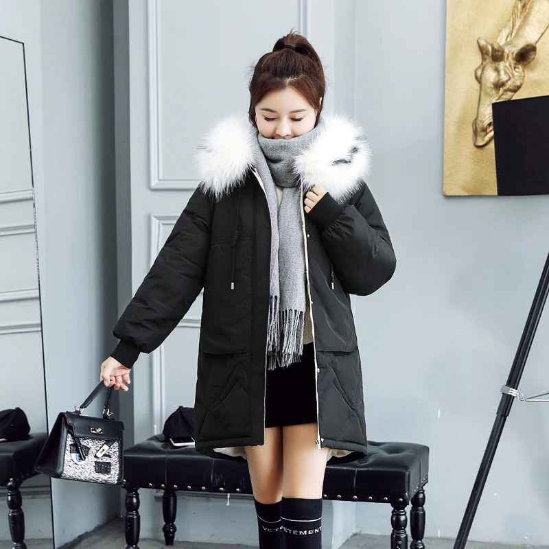 Coats 2019 fur hooded parka casaco feminino female jacket coat