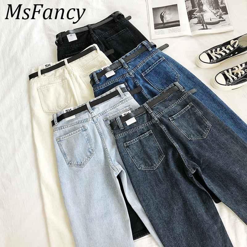 Jeans women fashion pants high waist harem jeans ankle-length stretch