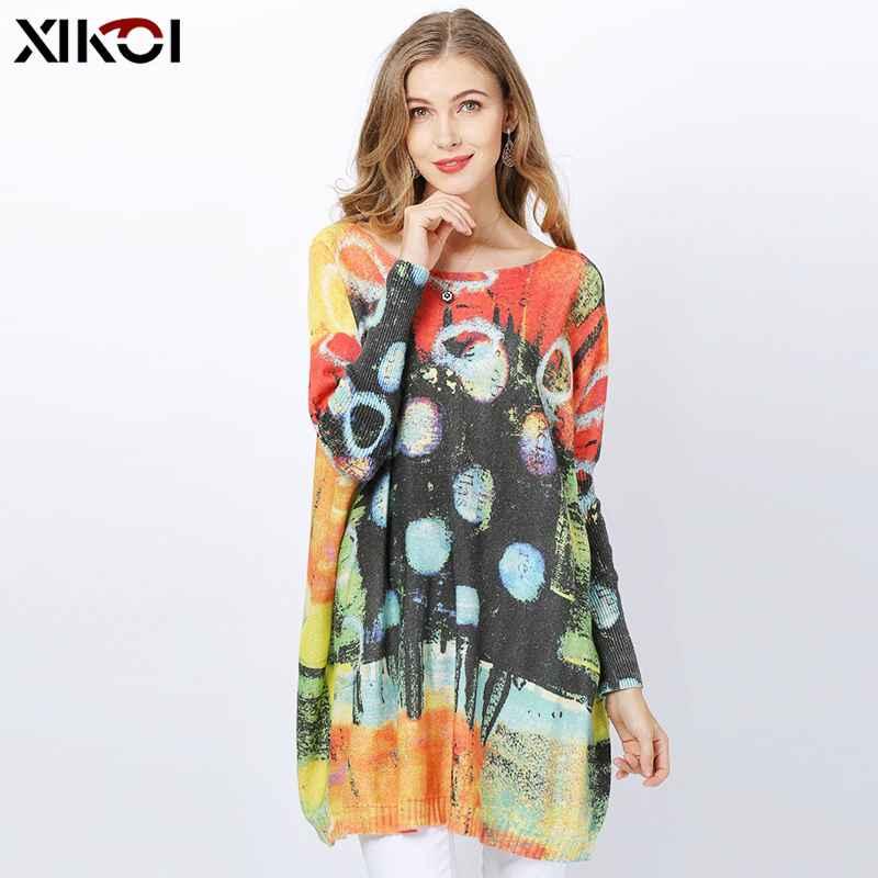 Xikoi Winter Wool Oversized Sweaters For Women Pullovers Dress Fashion