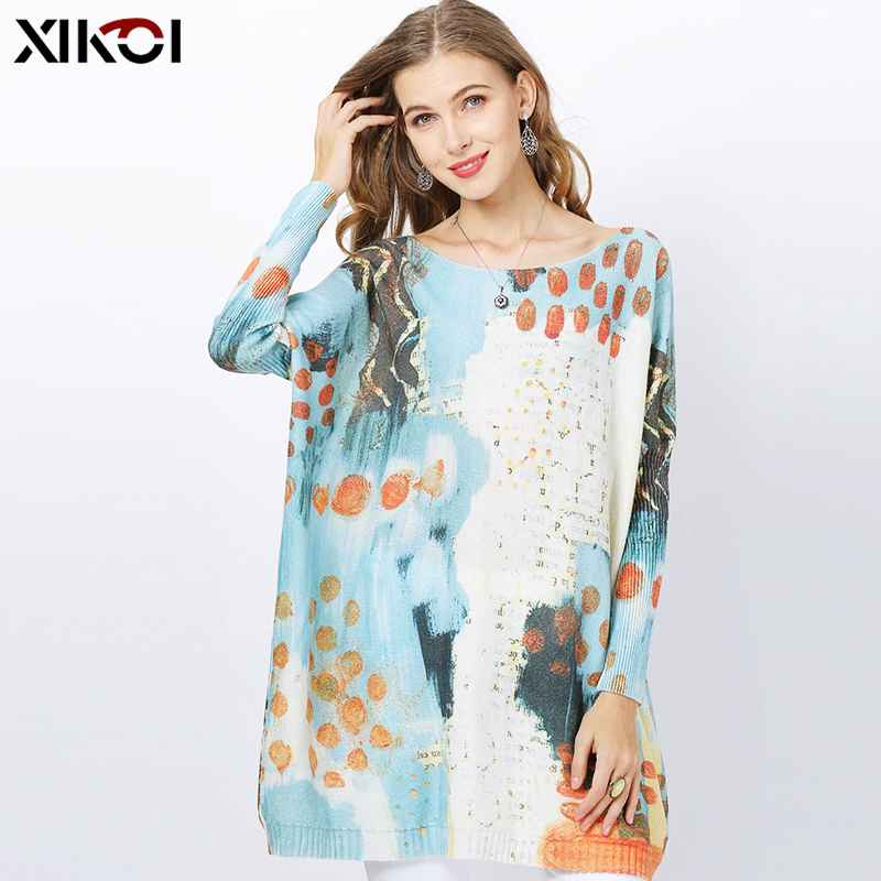 Xikoi Winter Oversized Sweaters For Women Long Wool Pullovers Loose