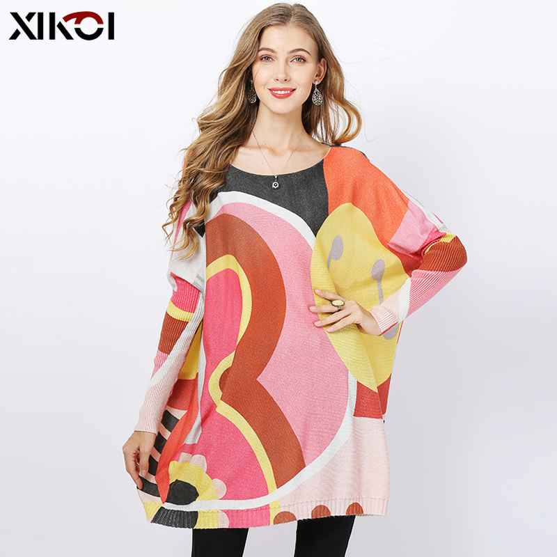 Xikoi Winter Oversized Wool Sweater Dresses For Women Knitted Loose