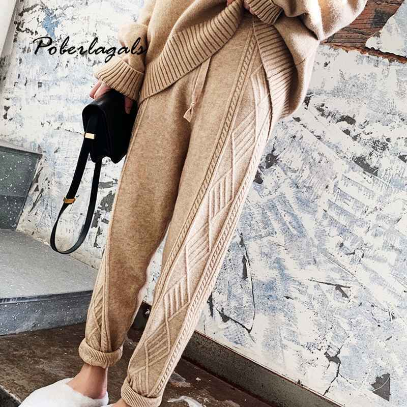 Pants streetwear autumn thick pant women trousers 2019 autumn winter