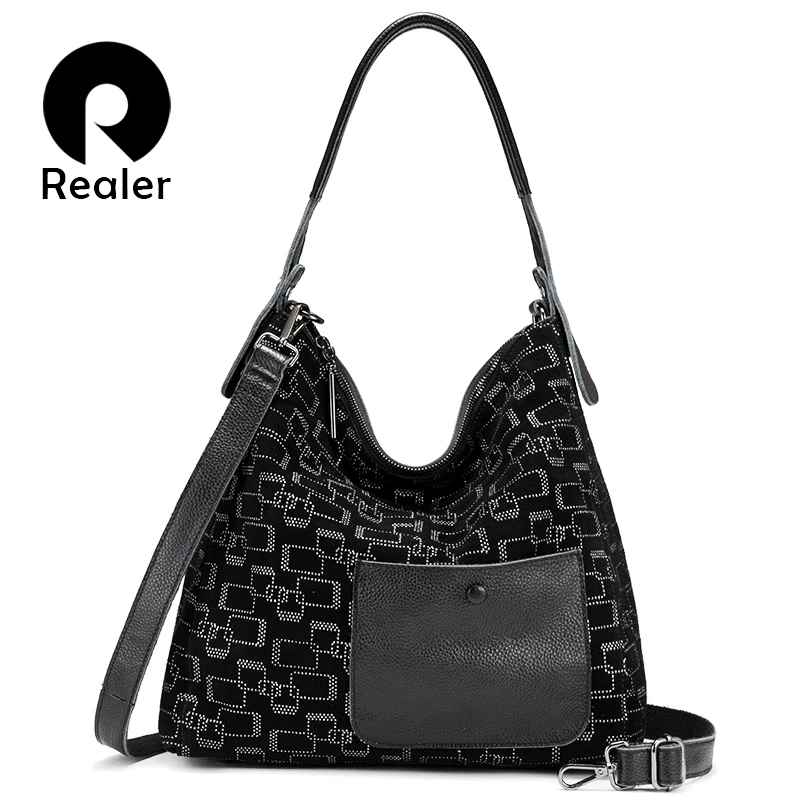 Female Shoulder Bag Genuine Leather Large Tote Bags For Women