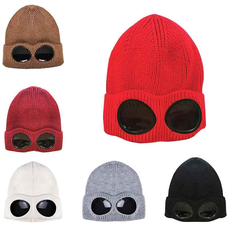 Sports Ski Cap Unisex Wool Knitted Goggles Thermal Warm Autumn
