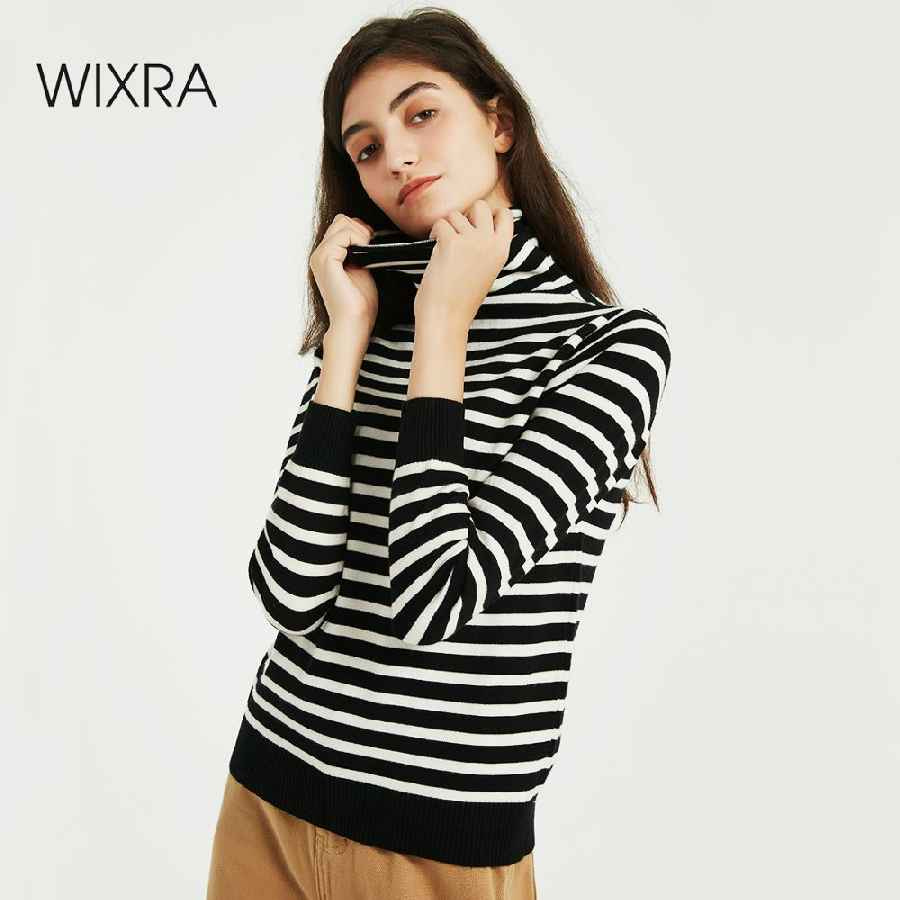 Womens Sets Wixra Women Soft Striped Knitted T Shirts Ladies