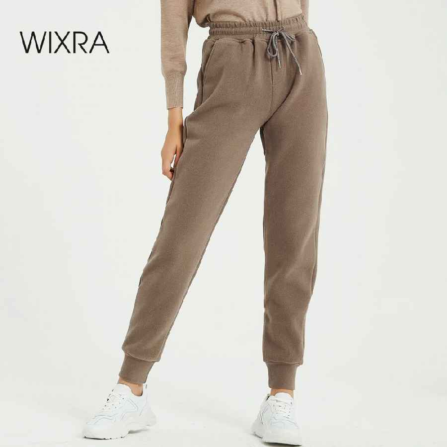 Pants wixra women casual velvet pants autumn winter ladys thick
