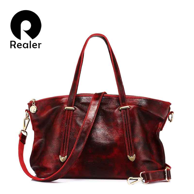 Genuine Leather Bag For Women Tote Fashion Women Handbag Female