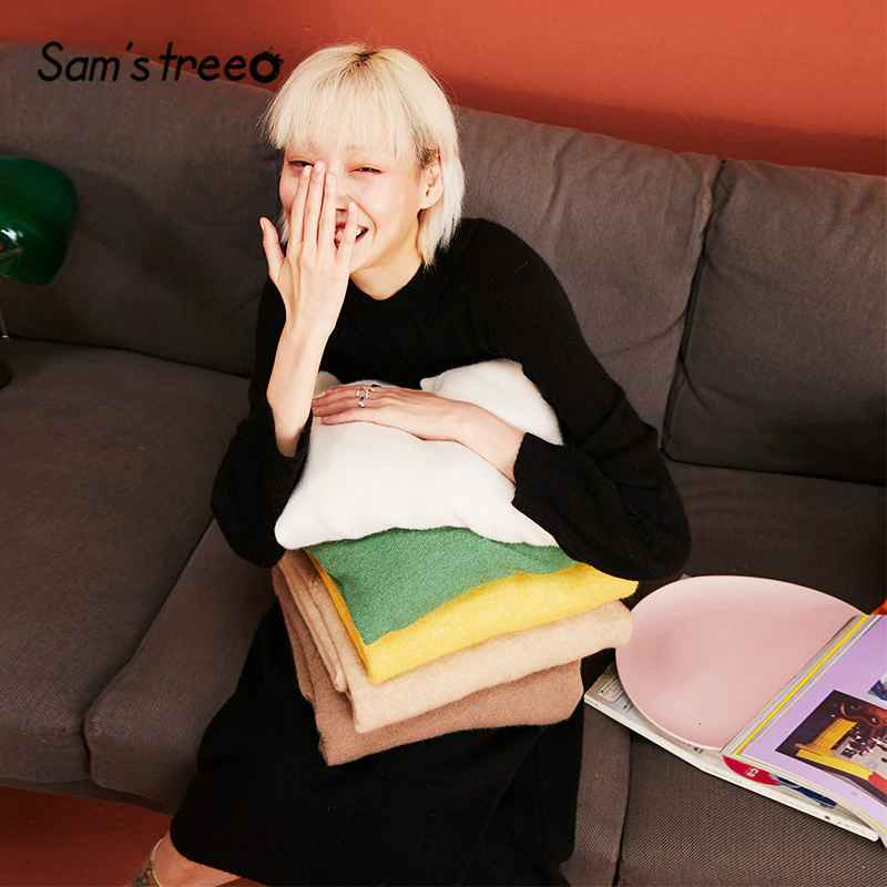 Sweaters sams tree solid minimalist style knitted pullovers casual dress