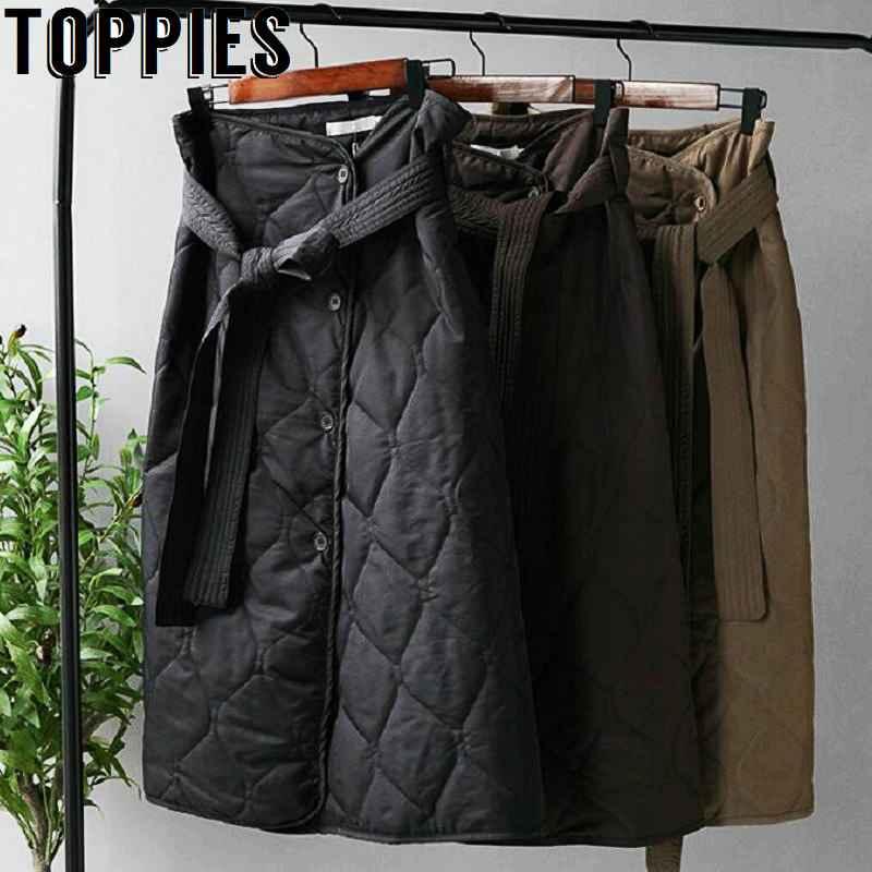 Skirts winter skirts woment high waist asymmetrical button long skirts