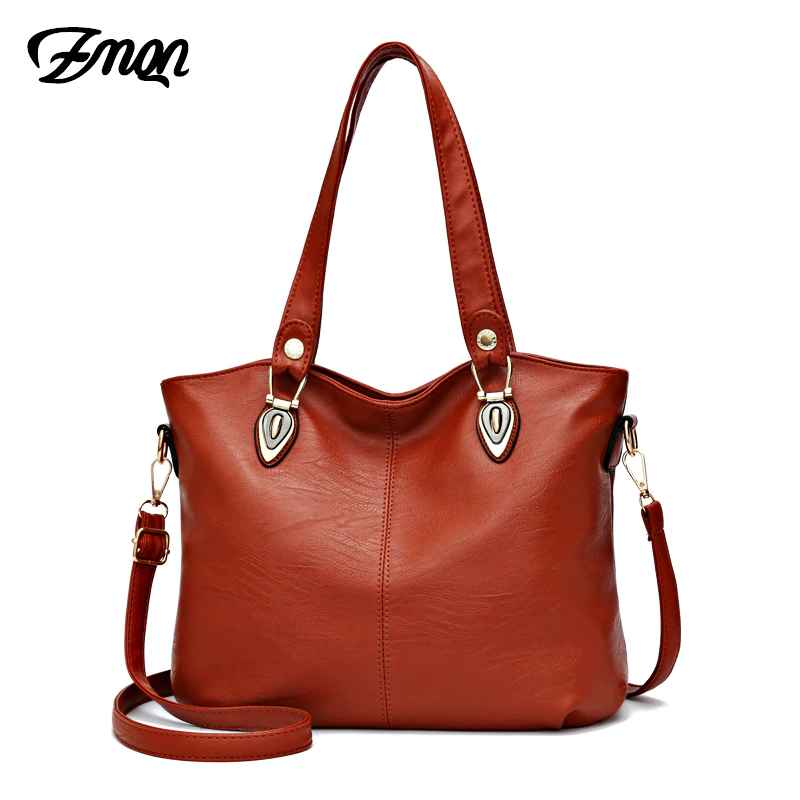 Female Bag Soft Leather Handbag Women's Famous Brand Daily Crossbody